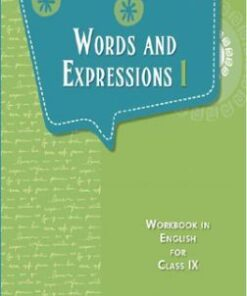 Words And Expressions I Book For Class 9