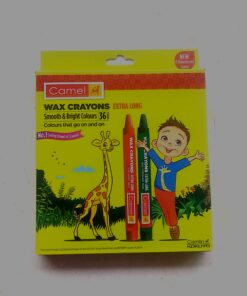 Wax Crayons Smooth and Bright Colours 36 Shades Extra Long