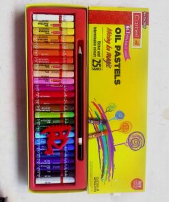 Camel Oil Pastels Color Mixing ka Magic 25 Shades with Free Scraping Tool and pencil