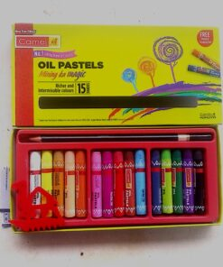 Camel Oil Pastels Color Mixing ka Magic 15 Shades with Free Scraping Tool and pencil