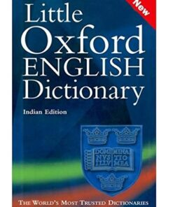 Little Oxford English Dictionary Hardcover Binding Ninth Edition(Indian Edition)