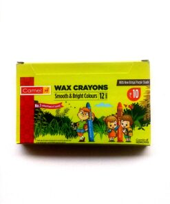 Camel Wax Crayons Smooth and bright Colors 12 Shades