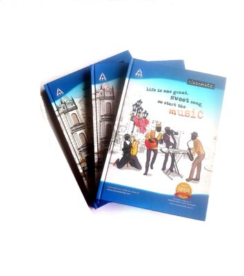 Classmate Single Line Long Register File Hard Cover Notebook 350 pages (A/4 Size Exercise Notebook)