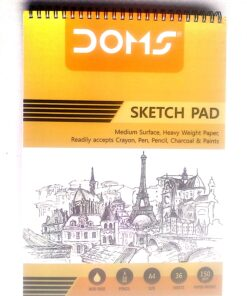 Doms Sketch Pad Wire Binding Book For Artist (A/4 Size Spiral Sketch Book)