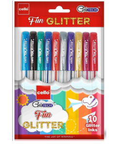 Cello Colorful Geltech Fun Glitter Gel Pen