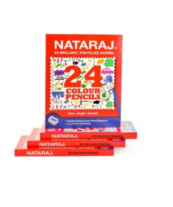Nataraj Color Pencils - 85 mm 24 Colours With Free Sharpener