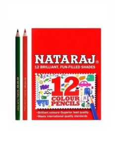 Nataraj Color Pencils - 85 mm 12 Colours With Free Sharpener