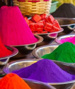 1.5kg rangoli color with 15 different shades - 15 multi colors