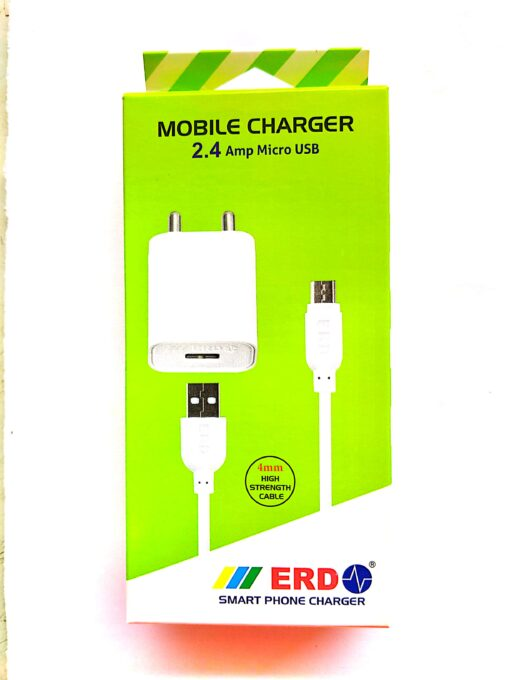 2.4 Amp ERD Mobile Charger TC-55 with Micro USB Data Cable