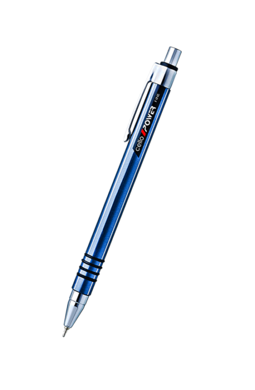 Cello Power Fine Ball Pen Black, Blue
