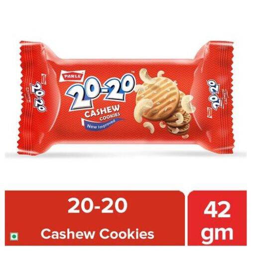 Parle 20-20 Cashew Cookies, 45 g Pouch