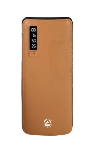 ARU 10000 mAh Power Bank (APB-1100-10000mAh, APB-1100) (Brown, Lithium-ion)