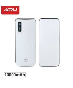 ARU 10000 mAh Power Bank (APB-1100-10000mAh, APB-1100) (White, Lithium-ion)