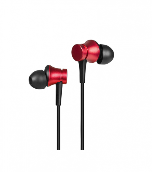 Mi Earphone Basic with Ultra Deep Bass and Mic (Red)